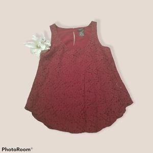 Aritzia talula lace betty tank